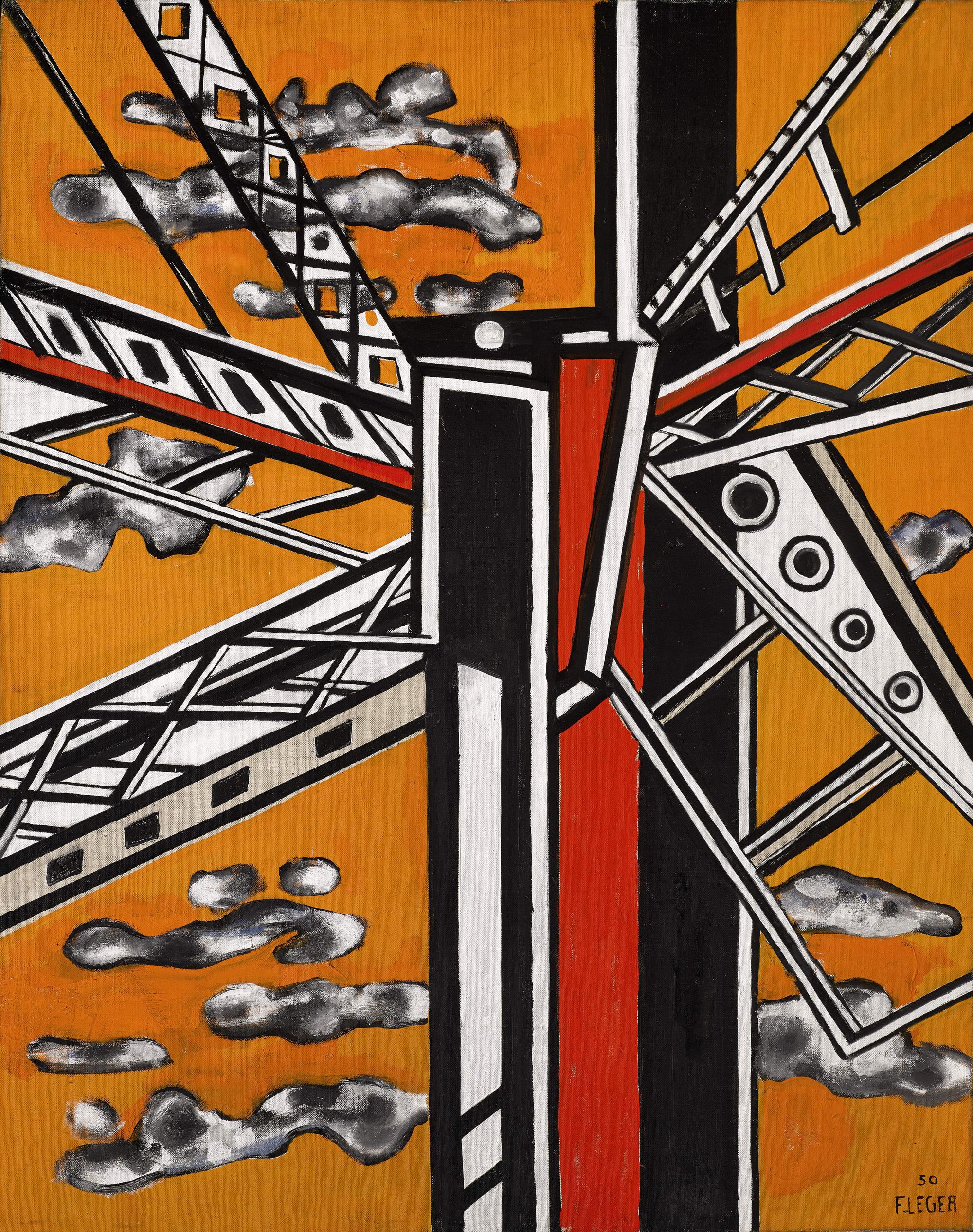 Fernand Léger - Élément Mécanique Sur Fond Jaune