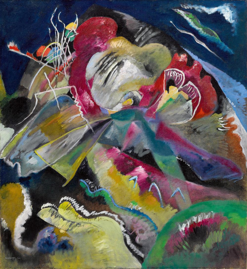 Wassily Kandinksy - Bild mit weissen linien
