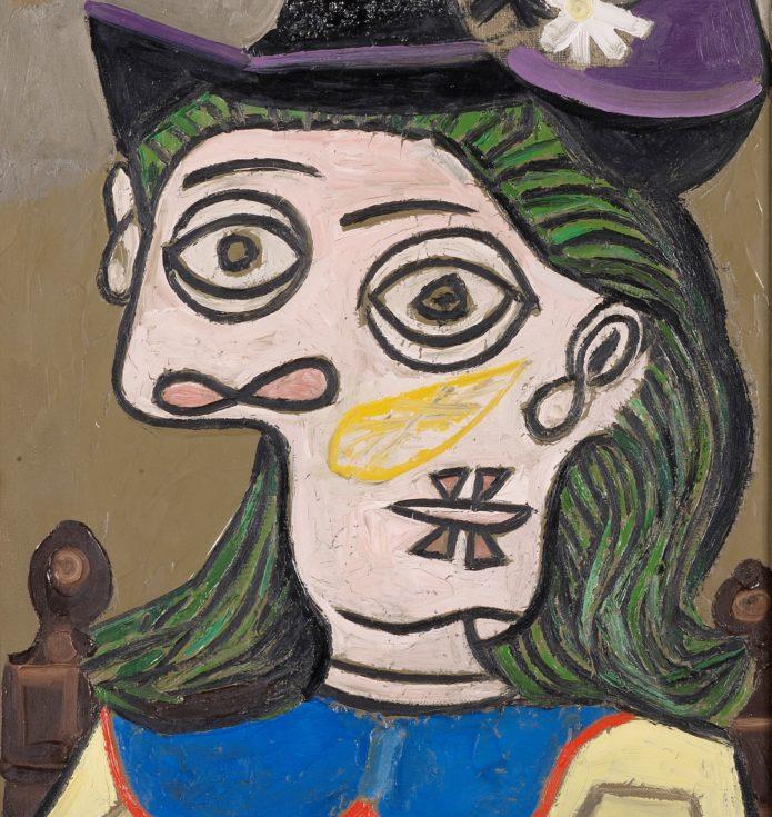 Picasso - Femme Au Chapeau Mauve